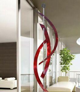 HUGE RED METAL SCULPTURE Abstract Modern ART- INDOOR/OUTDOOR.  Signed  Jon Allen