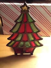 Vintage Cast Iron Christmas Tree Votive Candle Holder