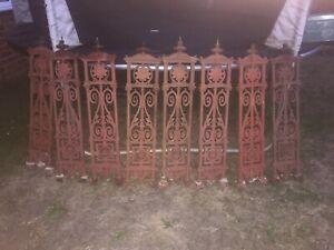 Cast Iron Gate Balustrade Railing Balcony Staircase Gate garden Fence x 8