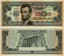 Abraham Lincoln Gospel Tract Trillion Dollars US USA Money Fun Gift Bill Novelty