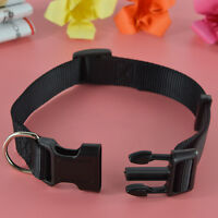 Adjustable Fabric Nylon Dog Puppy Pet Collar w/ Buckle and Clip for Pet Lead~