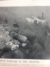 L3-2 Ephemera Book Plate Ww1 French Infantry In The Argonne