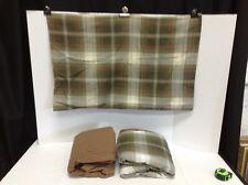 Pottery Barn Teen Green Brown White Plaid Sheet Bedding Set Twin Cotton