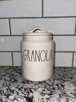 "New Rae Dunn ""GRANOLA"" 8"" Canister Medium Size Canister All White Ceramic"