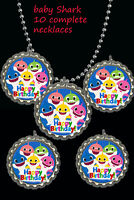 Happy Birthday Baby Shark Necklaces party favors lot of 10 complete necklace