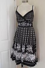 size 18 black and white cotton summer dress dress from debenhams brand new
