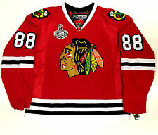 PATRICK KANE CHICAGO BLACKHAWKS 2010 CUP EDGE AUTHENTIC REEBOK VECTOR JERSEY