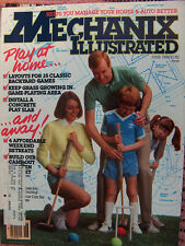 Mechanix Illustrated Mag, classic backyard games, June 1984