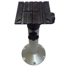 "Aluminium Height Adjustable Boat Seat Pedestal (19-25.25"" / 483-643mm)"