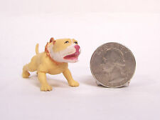 "Rare Hood Hounds Barking Pink Nose Pit bull Dog 1.75"" Diorama Figure Figurine"