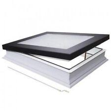 300mm x 300mm Manual Opening, Flat Roof Skylight, Triple Glazed, Blue Tinted