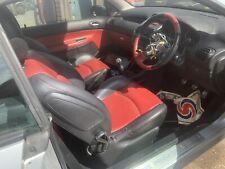 PEUGEOT 206 cc RED BLACK LEATHER INTERIOR SEATS DOOR CARDS STEERING WHEEL