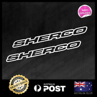 2x SHERCO FACTORY RACING Vinyl Sticker 225x19mm Decal Window Car Motocross