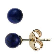 Goldohrstecker Kugel 2 Lapislazuli blau 585 Gelbgold Ohrstecker Ohrringe 43978