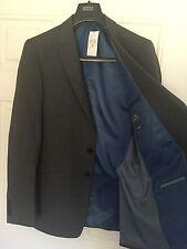 """NUOVO M&S SLIM FIT GRIGIO Blazer / Giacca da abito 38 """"LONG, BNWT (630)"""