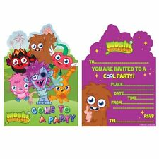12x Moshi Monsters Invitations Invite Cards with Envelopes Birthday Party NEW