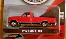 Greenlight 1992 Ford F-150 Diecast 1:64 Red Pickup Truck 75 Anniversary 28020-D