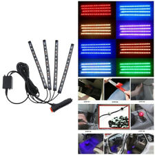 12 LED Car Interior Neon Smart Phone App Control 7Colorful RGB Floor Light Strip