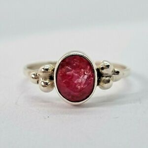 Brand New Sterling Silver 925 Ruby Ring, Size N 1/2