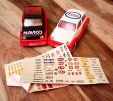 2 VINTAGE MINI METRO SCALEXTRIC CARS SPARES OR REPAIRS NAVICO & ESSO L6104
