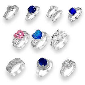 Ring Swarovski® Crystal Silver S925 Jewellery Women's Ladies Engagement Gift UK