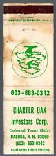 CHARTER OAK INVESTORS CORP NASHUA NH 20 FS MATCHBOOK COVER