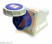 16 amp 3 pin wall mounted socket 220 - 250V IP67 16A waterproof caravan camper