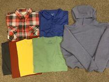 Men's 2XL Shirts - Lot of 7 - Short Sleeve Long Sleeve Polo Button Up Sweatshirt