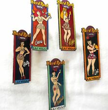 Hard Rock Cafe Las Vegas Hotel Shaker Set '00 of 5 Pins and Shaker