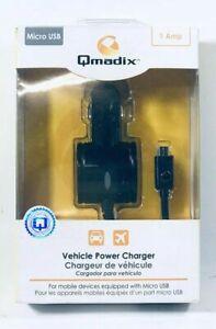 Qmadix Micro-USB Vehicle Power Charger, Black