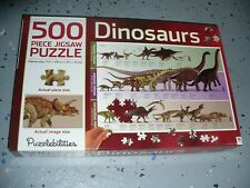 "Puzzlebilities Hinkler 500 Piece Jigsaw Puzzle - Dinosaurs ( 29.1"" x 19.5"" )"