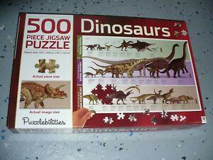 "Puzzlebilities Hinkler 500 Piece Jigsaw Puzzle - Dinosaurs ( 29.1"" x 19.5"" )"
