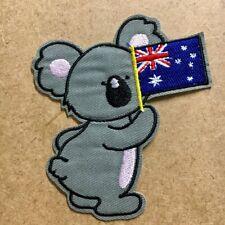 1pc Koala Australia Flag Embroidered Patch Cloth Iron On Applique sewing #1101