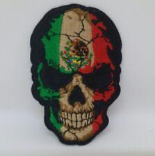 CHICANO MEXICANO LOWRIDER BIKER SKULL  PATCH