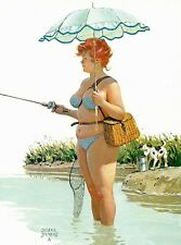 Hilda fishing with umbrella Duane Bryers