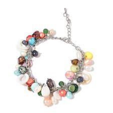 ACQUA Dolce Multi Colore Perla, Multi Colore Shell e bracciale smeraldo