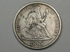 1888 Silver US Seated Liberty Dime (Full Liberty).  #33