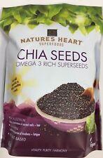 Terrafertil Chia Seeds 1 kg Nature's Heart Superfoods Omega 3 Rich Superseeds