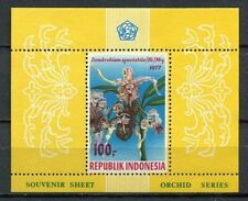 38356) INDONESIA 1977 MNH** Orchids s/s perforated