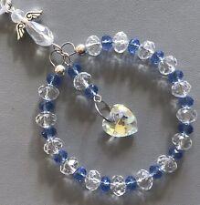 Light Blue Crystal Sun-catcher March Birthstone - Guardian Angel, Birthday Gift