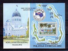 COCOS IS 1984 Ausipex Exhibition M/S MUH