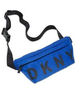 DKNY logo nylon belt bag/Fanny pack- Cobalt blue - One size