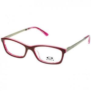 NEW OAKLEY OX1089 0453 Dark Red & Pink Eyeglasses 53mm with Oakley Bag