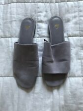 Womens H&M Grey Sandals Slippers Shoes Flats Eur 37 UK 4