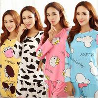 Women's Autumn sleepwear long sleeve pajamas sets Character printing Home Suit