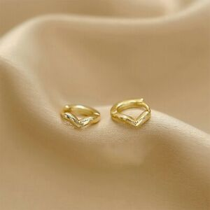 Women Cartilage Tragus Daith Conch Hoop Earring Nose Ring CZ Ear Circle-Piercing