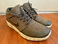 Nike Stefan Janoski Max Mid Skateboarding Shoes Sz 11 Baroque Brown 807507-206