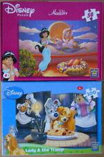 Disney jigsaw puzzle.  2 x puzzles.  aladdin & lady and the tramp.  job lot