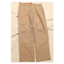 Dockers Beige Cotton Dress Pants 34 Waist 32 Inseam Flat Front Mans Men's P236