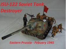 1/35 Built ISU-122 Soviet Tank Destroyer with Riders - Built 1/35 ( PRE ORDER)